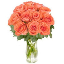 Bouquet of orange roses Bliss (without vase)